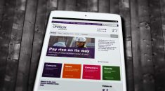 An example branch site on an ipad